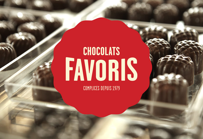 Chocolats Favoris Logo and Packaging
