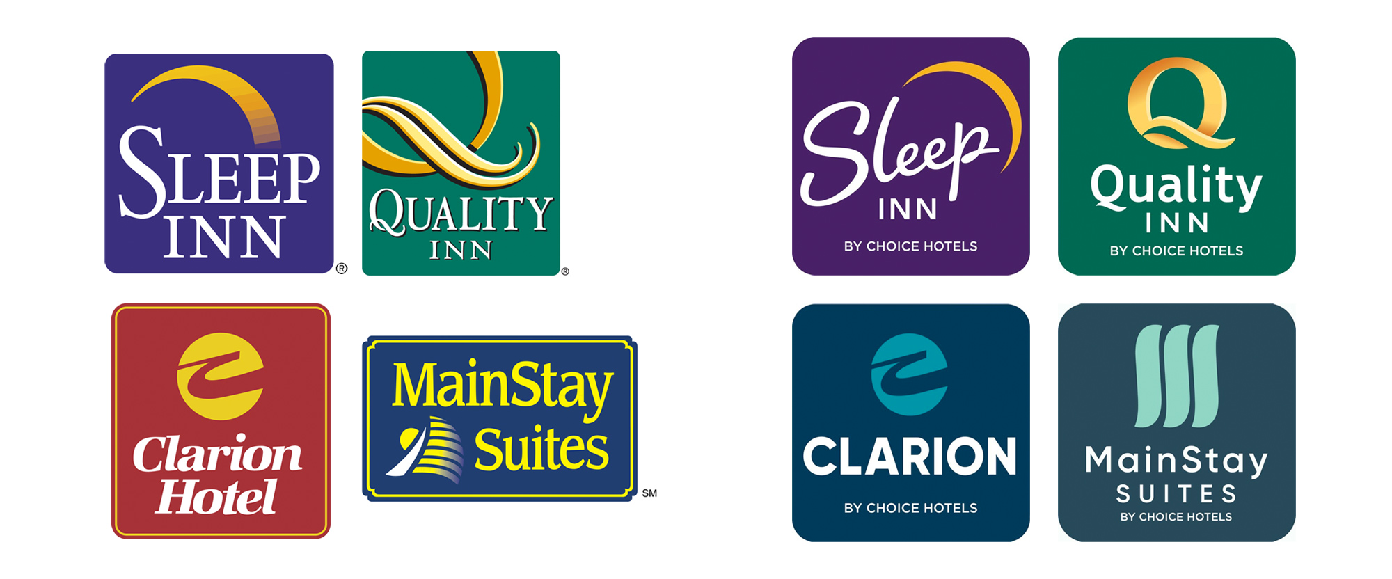 New Logos for Choice Hotels Midscale Brands