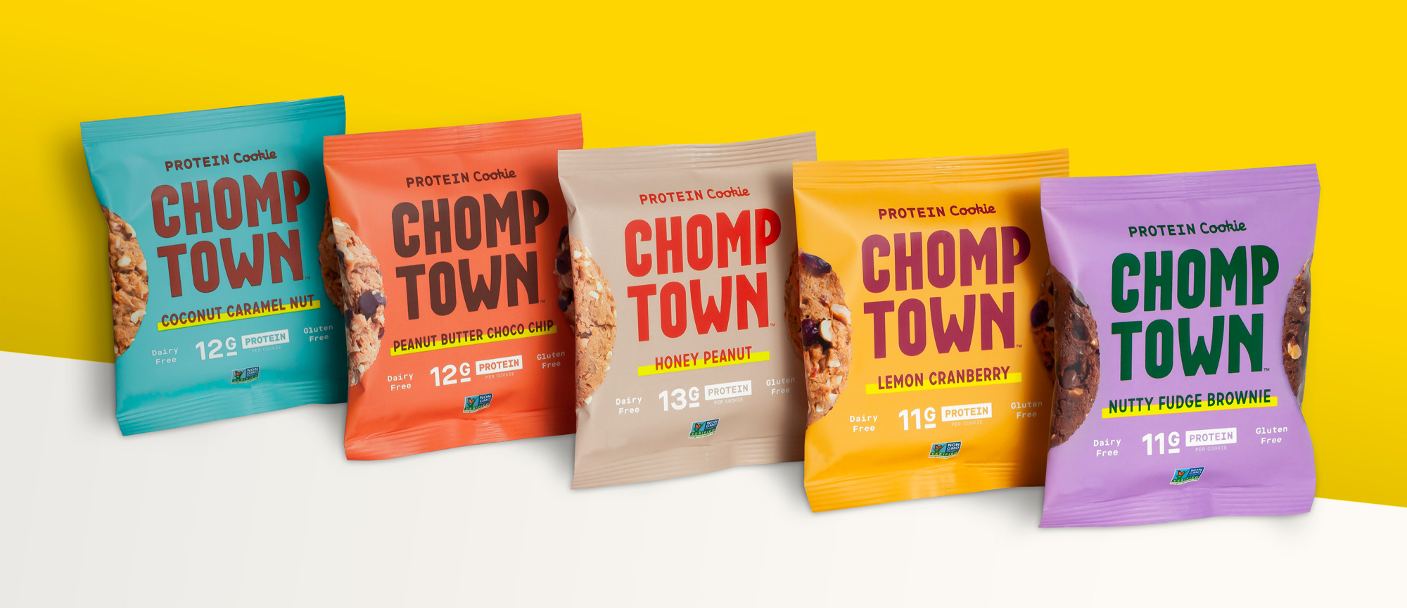 New Logo, Identity, and Packaging for Chomptown Cookies by Ptarmak