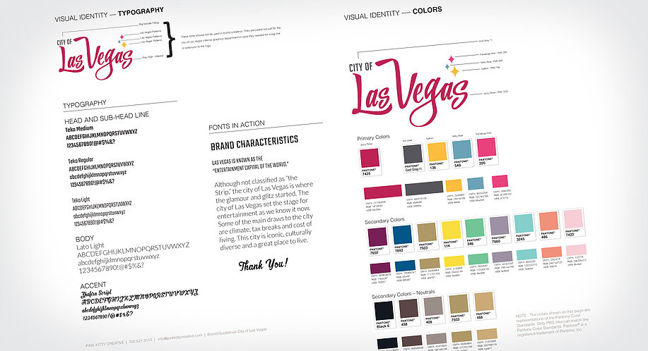 New Logo for City of Las Vegas by Pink Kitty Creative