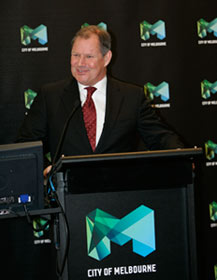 City of Melbourne Logo, Press Announcement