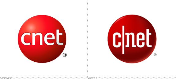 CNET Logo, Before and After