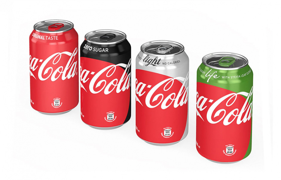 """Coca-Cola """"One Brand"""" Packaging"""