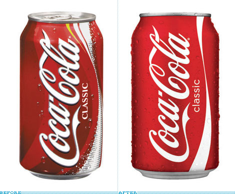 Coca-Cola Can, Before and After
