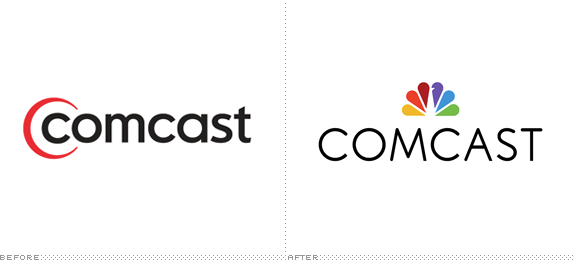 Comcast Logo, Before and After