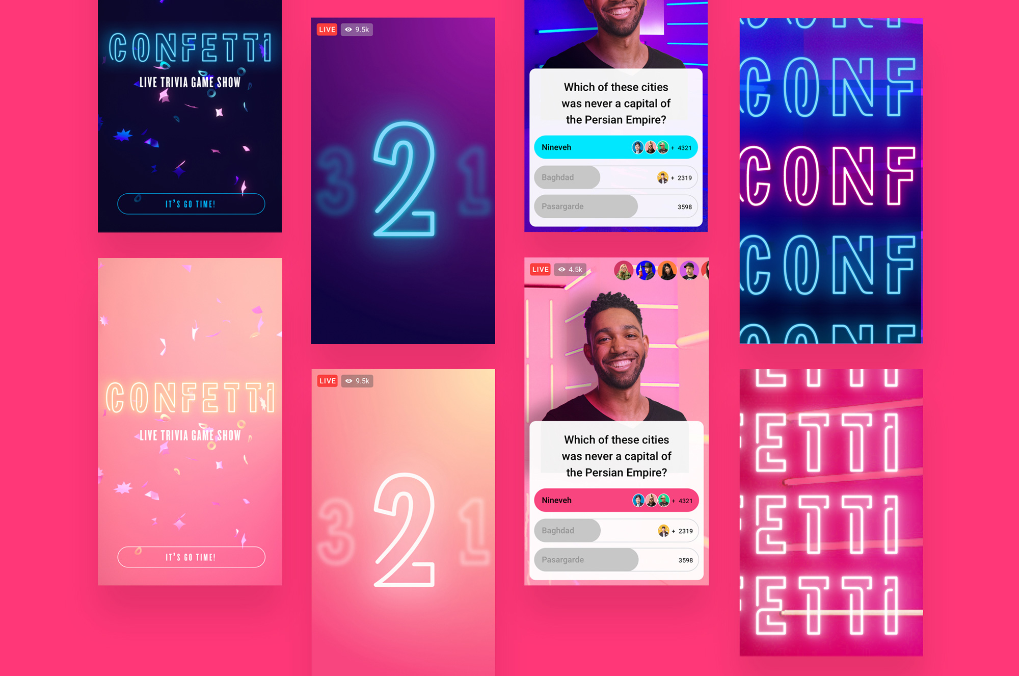 New Logo and Identity for Facebook Confetti by Ueno