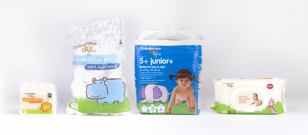 New Packaging for Co-op Baby by Robot Food