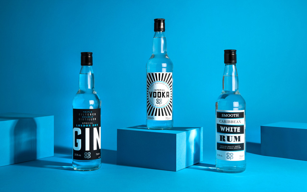New Packaging for Co-op Alcohol Beverages by Robot Food