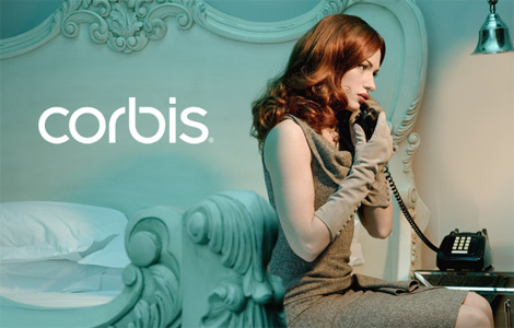 Corbis Logo, Applied