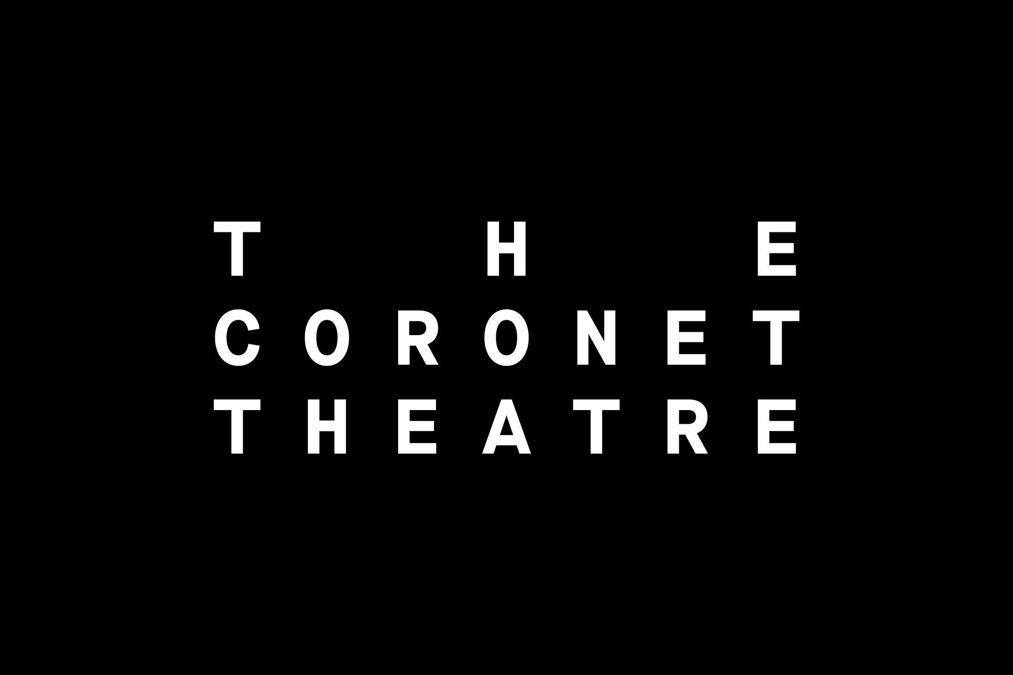 New Logo and Identity for The Coronet Theatre by North
