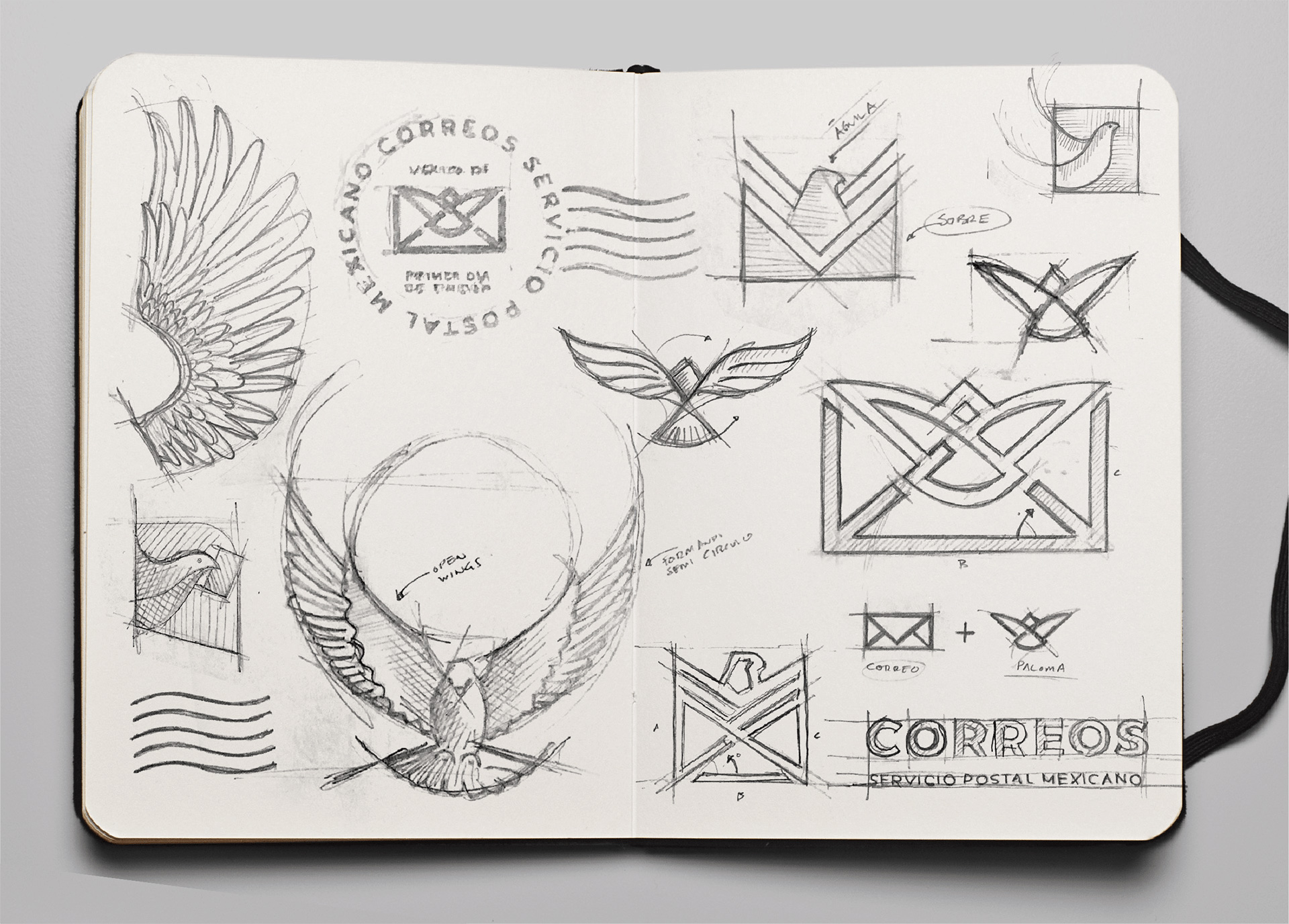 New Logo and Identity for Correos de México by Carl Forsell