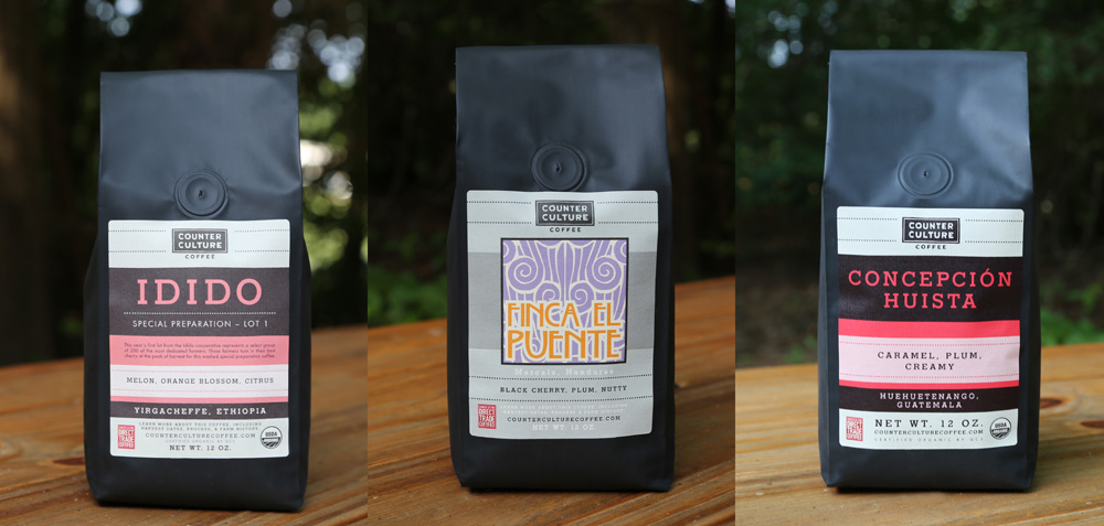 New Packaging For Counter Culture Coffee Done In House