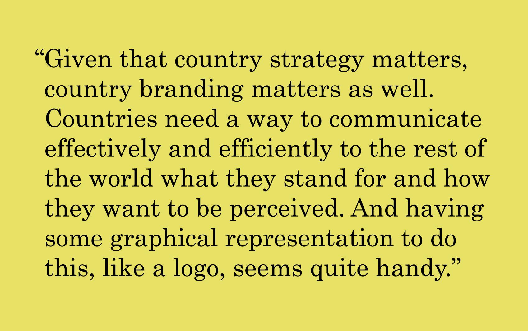 Do Countries Need Logos?