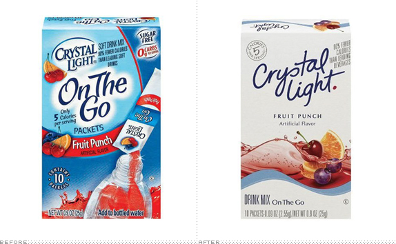 Crystal Light, Thinner and Lighter