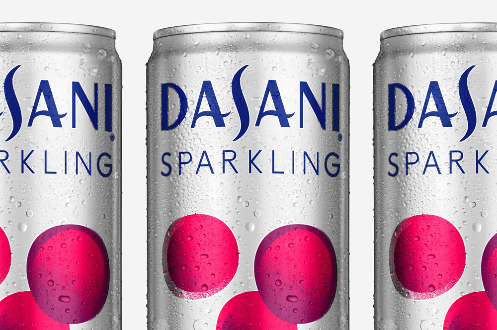New Logo and Packaging for Dasani Sparkling by Moniker
