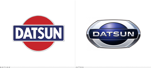 Datsun Logo, Before and After