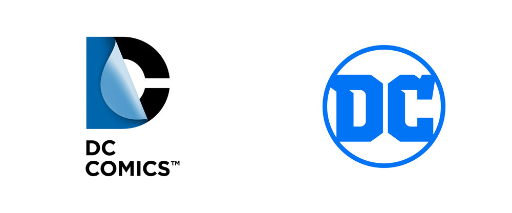 New Logo for DC Comics / DC Entertainment by Pentagram