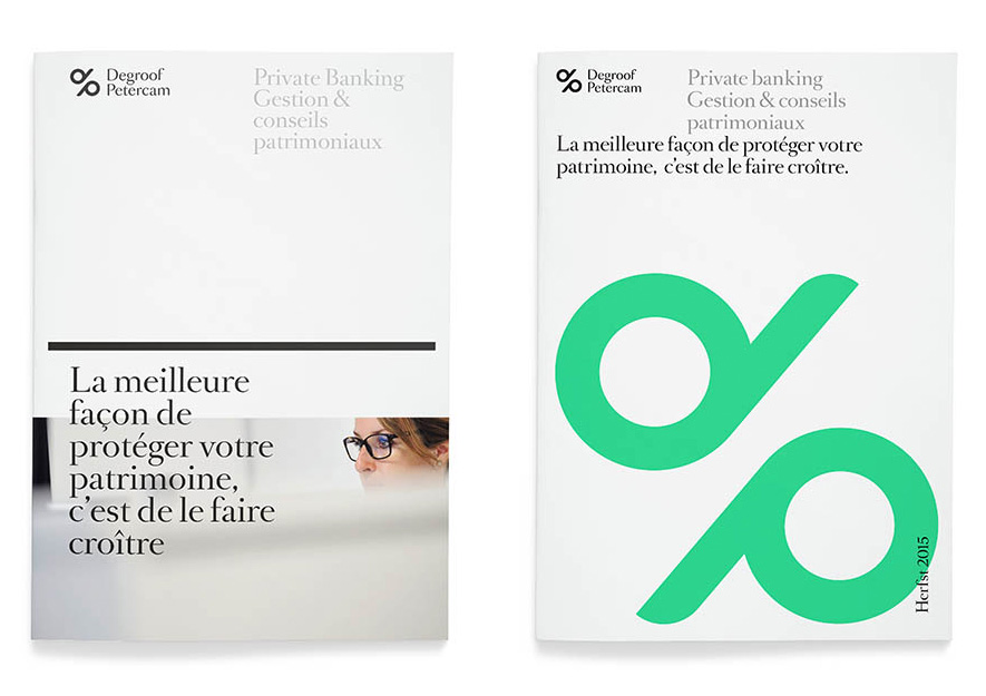 New Name, Logo, and Identity for Degroof Petercam by Base