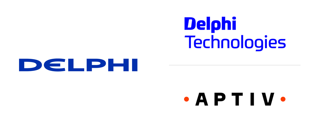New Logos for Delphi Technologies and Aptiv