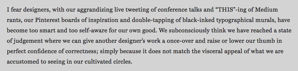 Design Criticism as Blood Sport