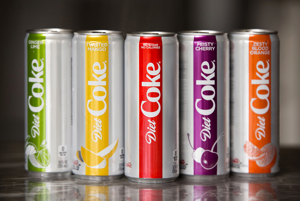 New Logo and Packaging for Diet Coke done In-house in Collaboration with Kenyon Weston