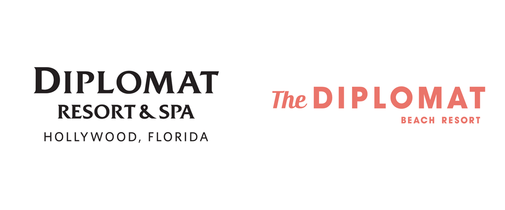 New Logo and Identity for Diplomat Beach Resort by Korn Design
