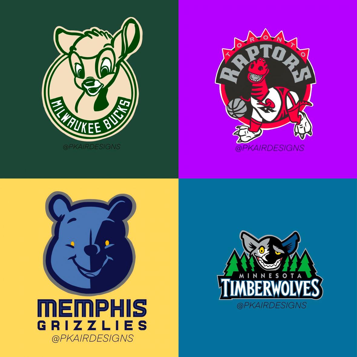 Disney/Pixar NBA Logos