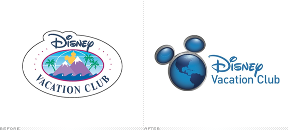 Disney Vacation Club Logo, Before and After