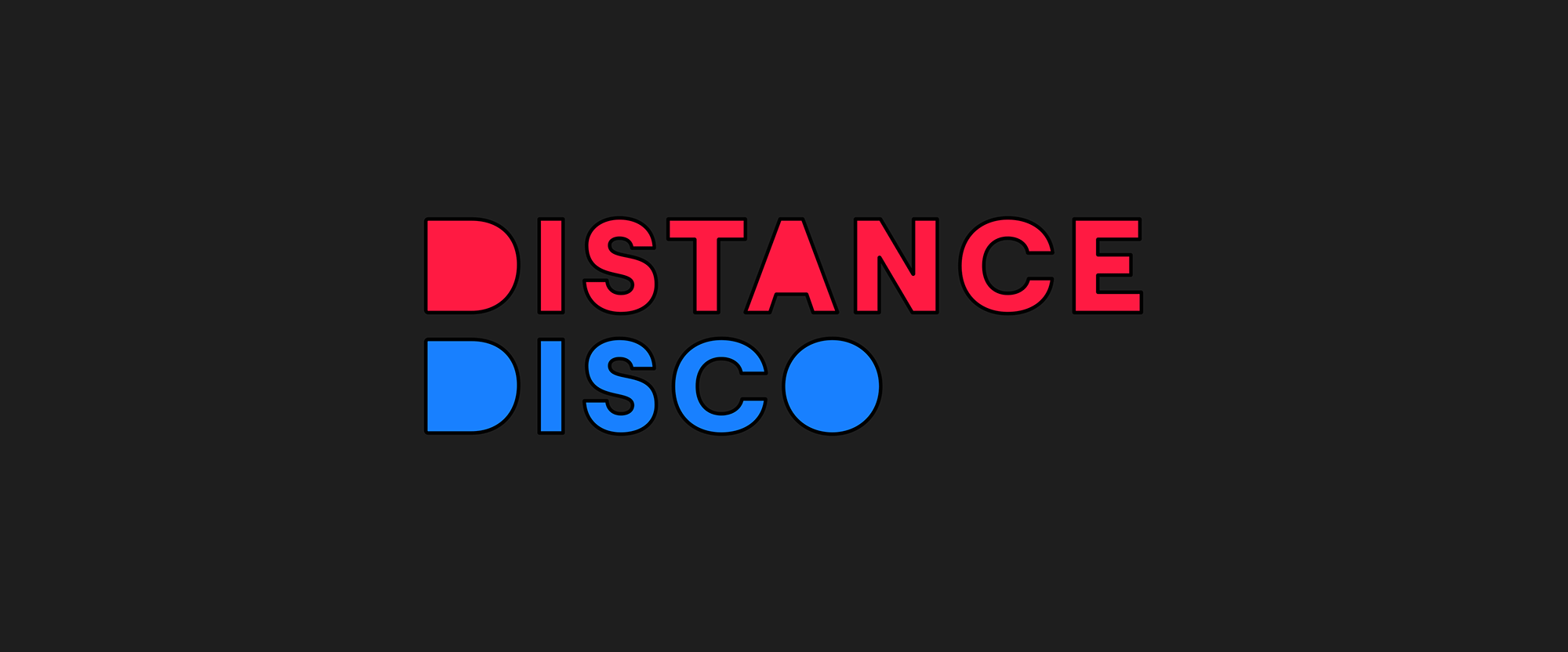 New Logo and Identity for Distance Disco by TIN