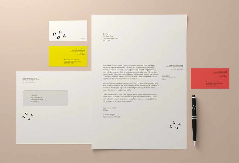 New Logo and Identity for DOGA by Creuna