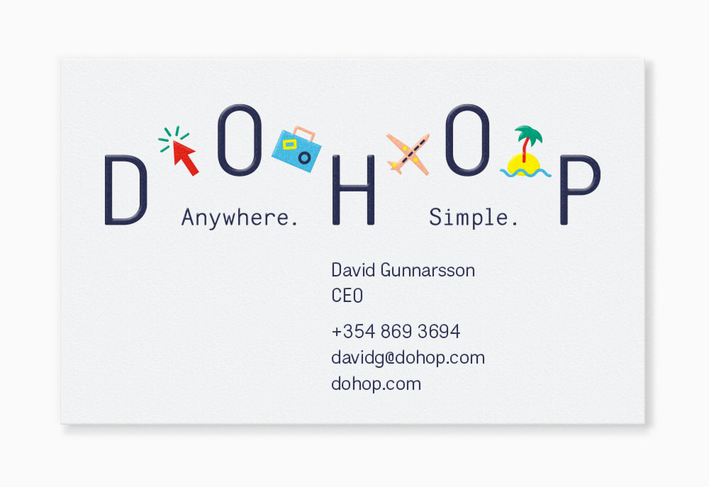 New Logo and Identity for Dohop by Bedow
