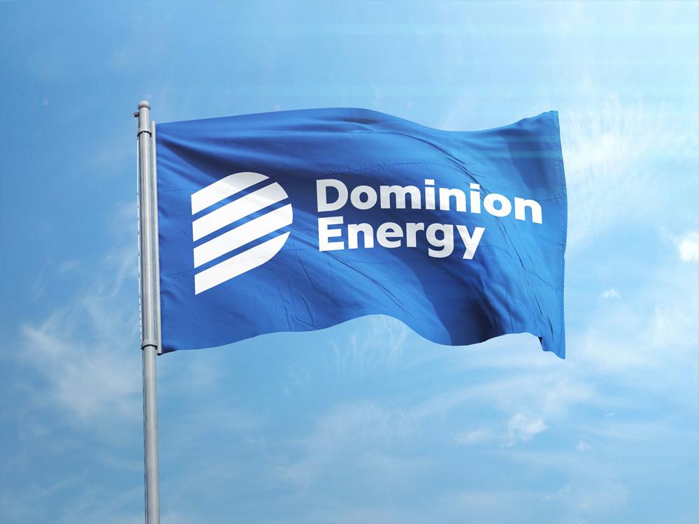 brand new  new logo for dominion energy by chermayeff  u0026 geismar  u0026 haviv