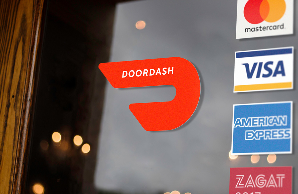 brand new  new logo and identity for doordash by character