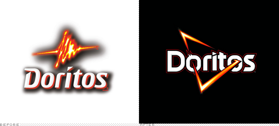 Doritos Logo, Before and After