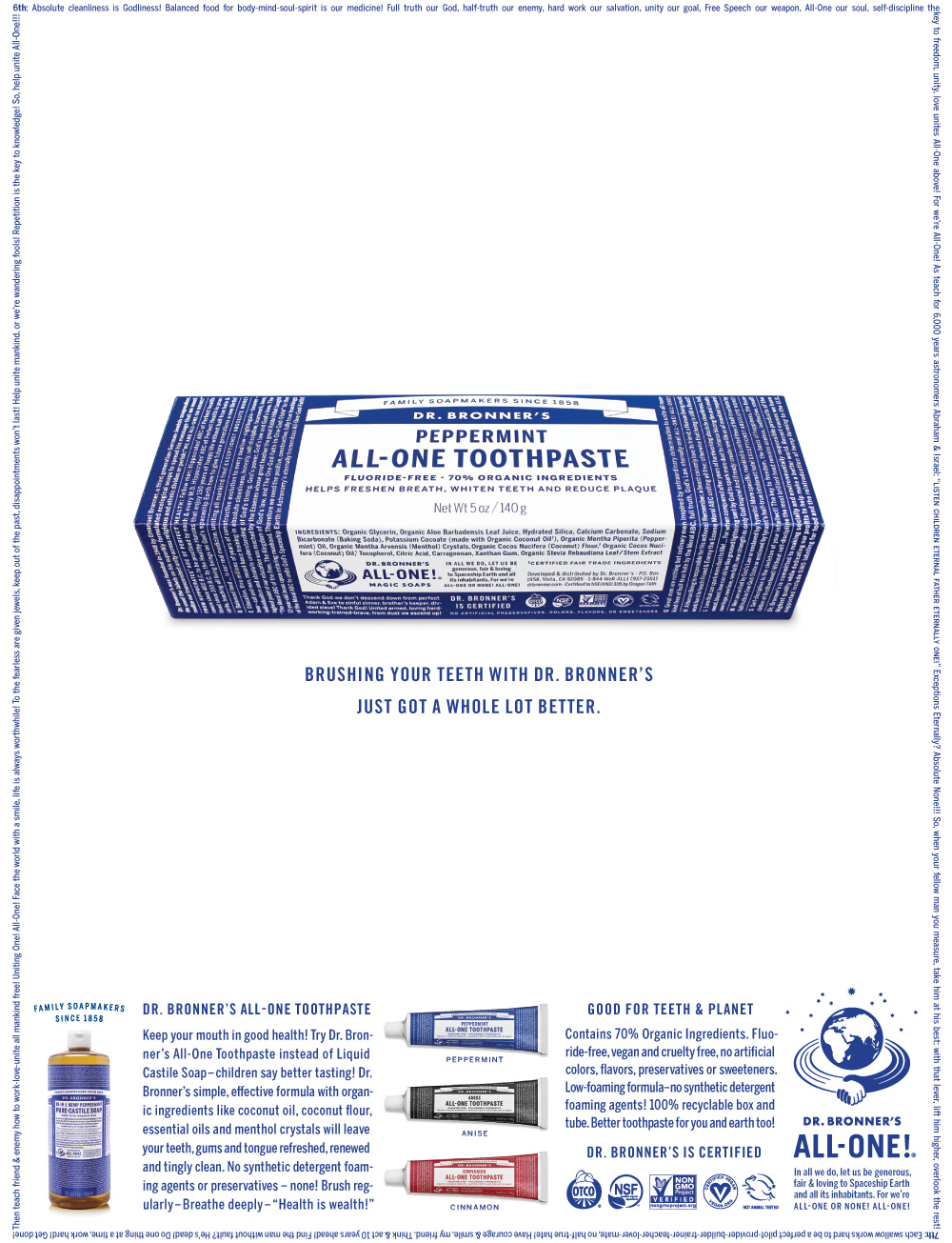 New Logo and Packaging for Dr. Bronner's