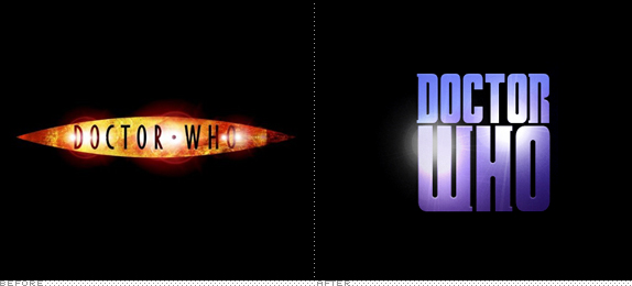 Doctor Who Logo, Before and After