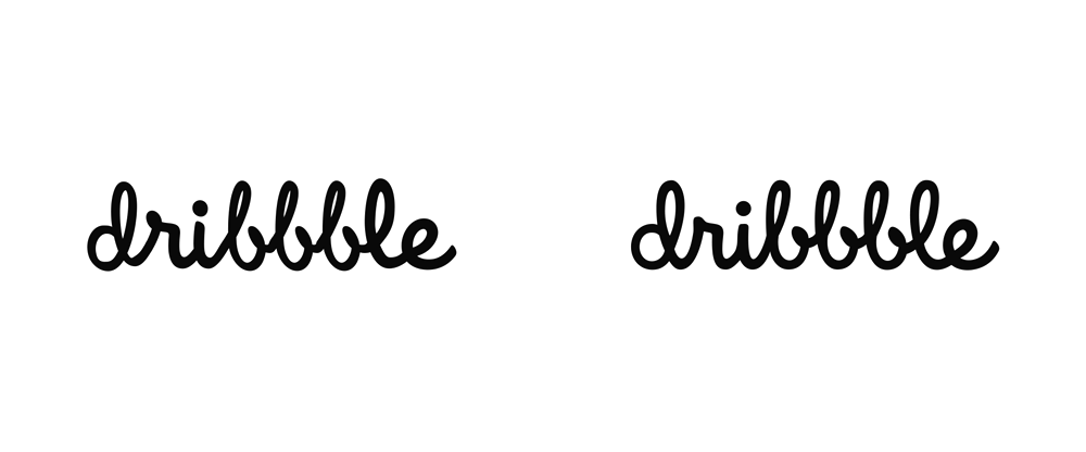 New Logo for Dribbble done In-house