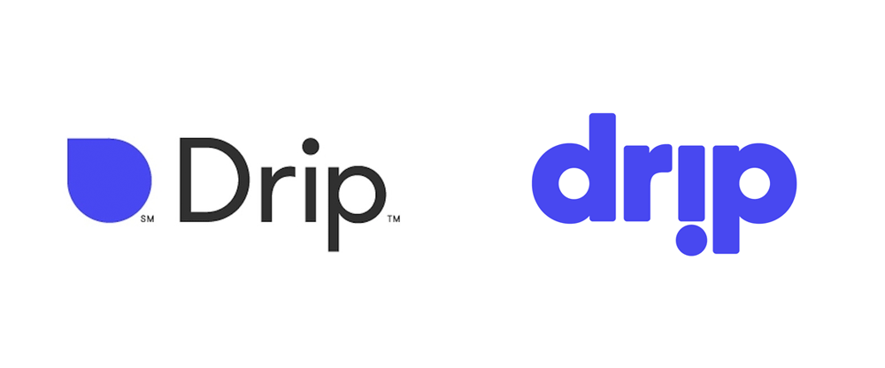 New Logo for Drip done In-house in Collaboration with Order