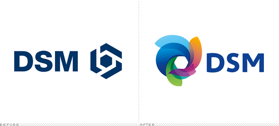DSM Logo, Before and After