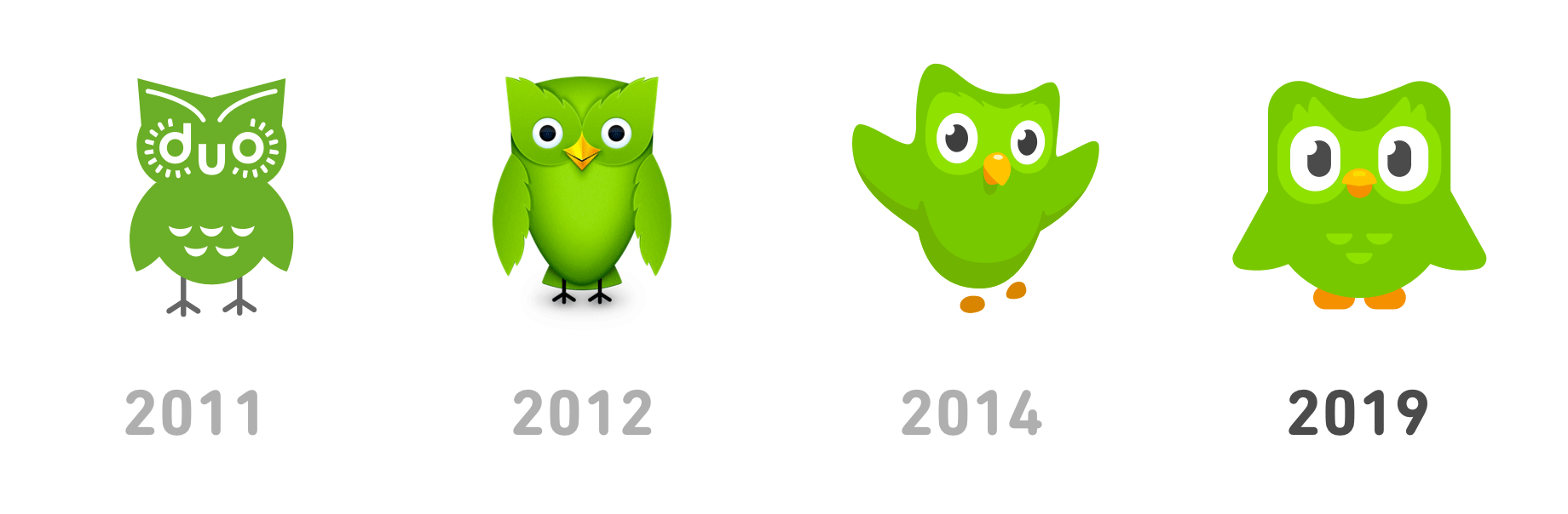 New Logo for Duolingo done In-house