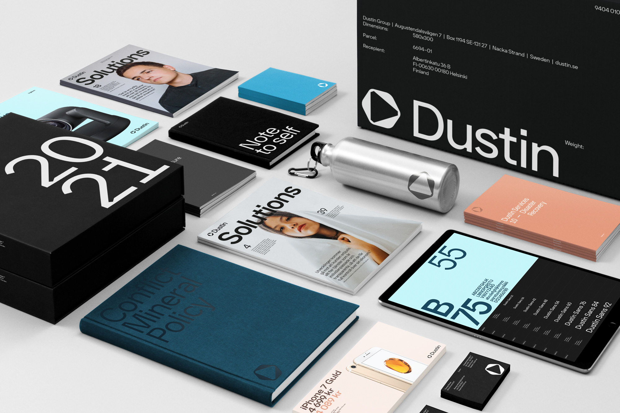 New Logo and Identity for Dustin by Kurppa Hosk