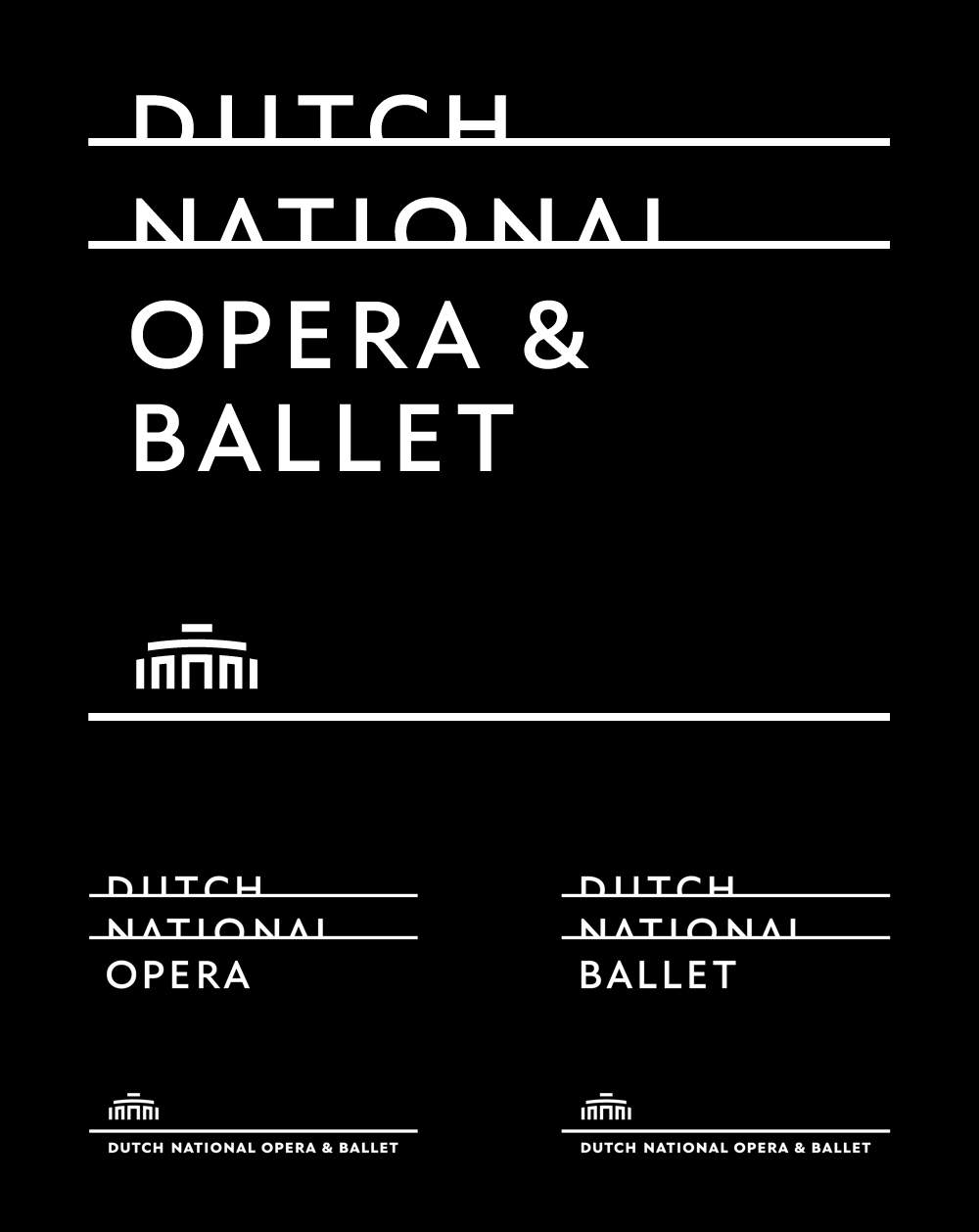 New Logo and Identity for Dutch National Opera & Ballet by Lesley Moore