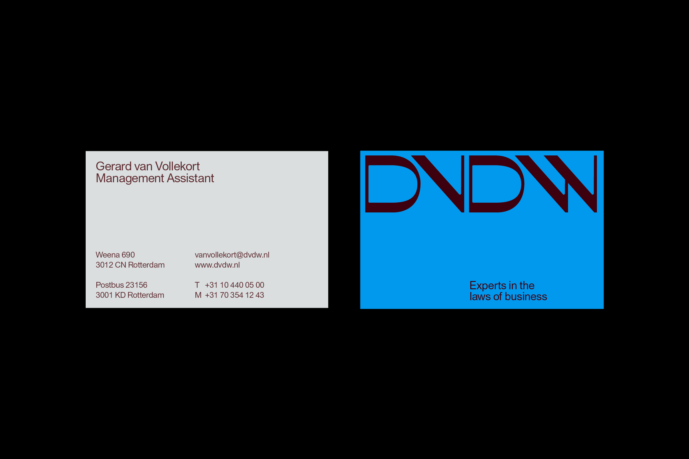New Logo and Identity for DVDW by Studio Dumbar
