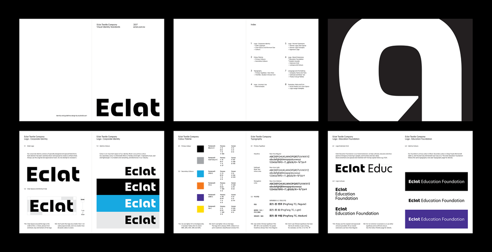 New Logo and Identity for Eclat by StudioTBT