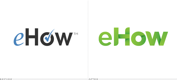 eHow Logo, Before and After
