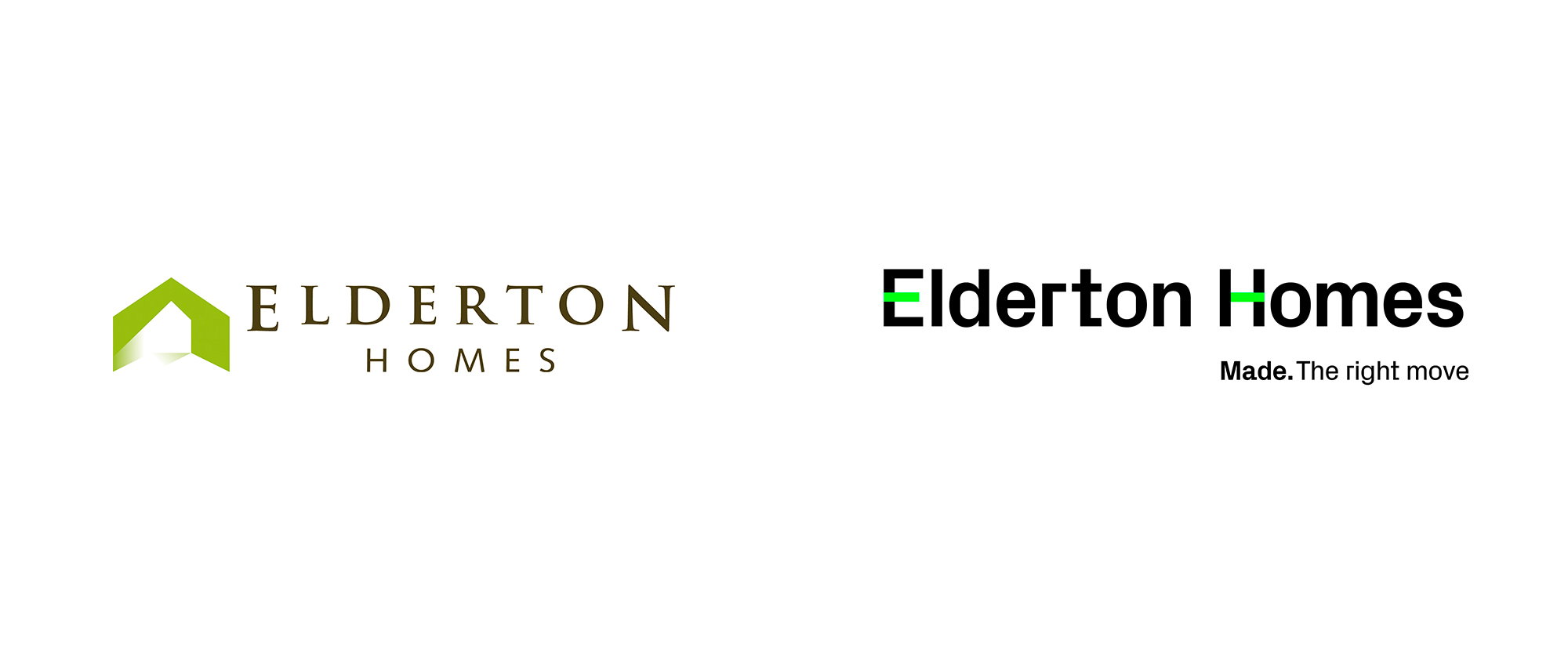 New Logo and Identity for Elderton Homes by Traffic