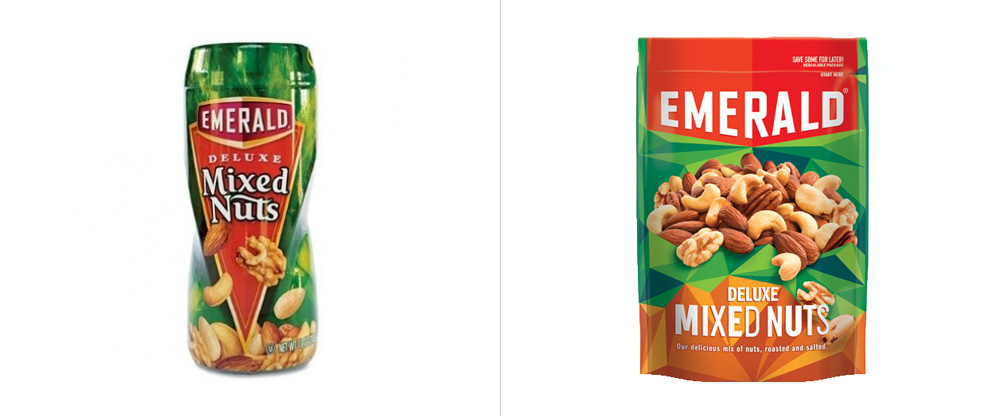 New Logo and Packaging for Emerald Nuts by GIRVIN