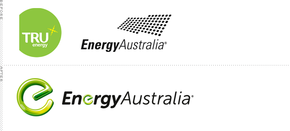 EnergyAustralia Logo, Before and After