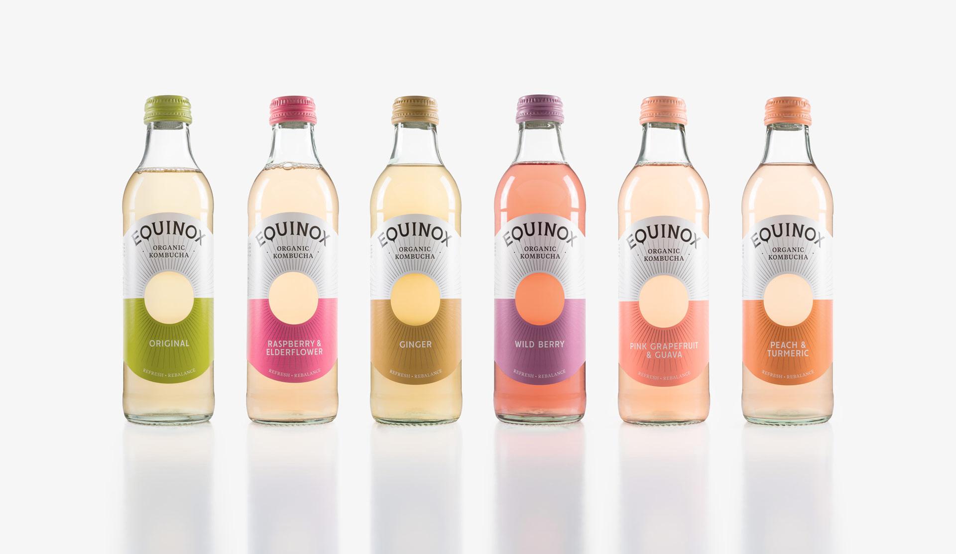 New Logo and Packaging for Equinox Organic Kombucha by Better