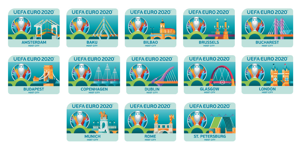 New Logo and Identity for UEFA 2020 by Y&R BRANDING Lisbon